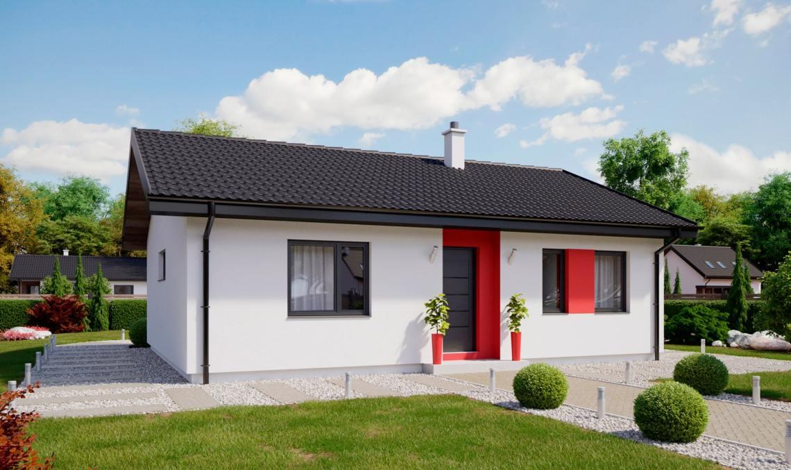 Проект одноэтажного дома с террасой «КО-132» - фото №1