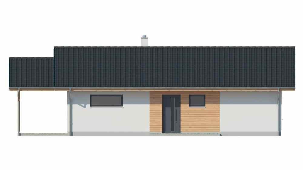 Фасад одноэтажного дома c террасой «КО-144» - спереди