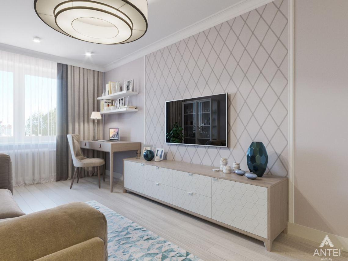 Дизайн интерьера трехкомнатной квартиры в Гомеле, ул. Свиридова - гостиная фото №2