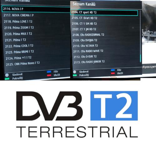 DVB-T2 jak naladit