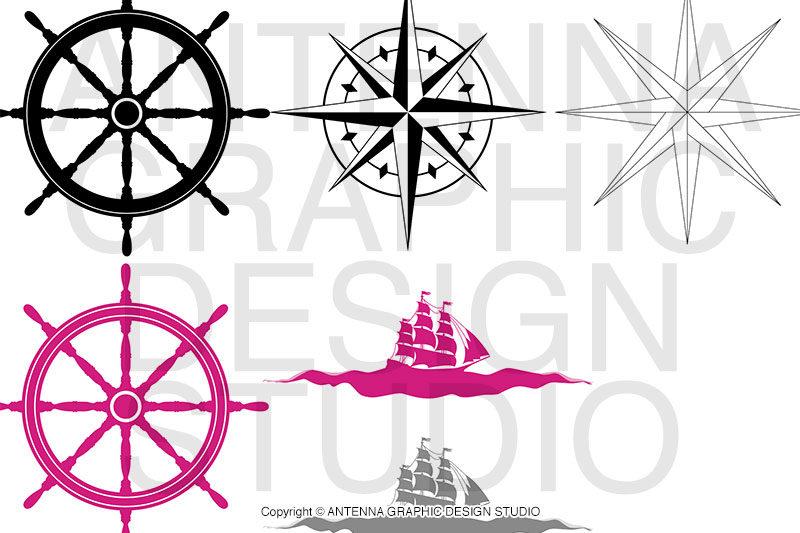 ロゴデザインに使用するパーツ画像例