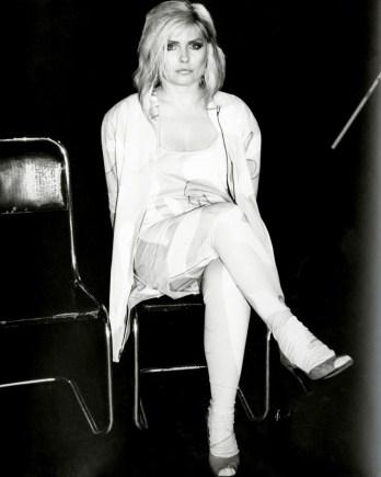 Debbie Harry (Blondie) seated 1985
