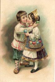 Пасхальная открытка - Дети (18)