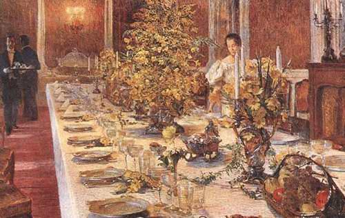 Как и в каком порядке подавали обед в конце XVIII века
