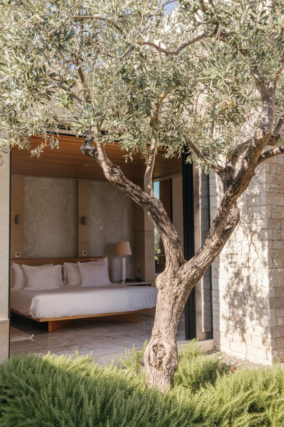 Amanzoe, Greece - Accommodation, Pavilion, Pool detail, View
