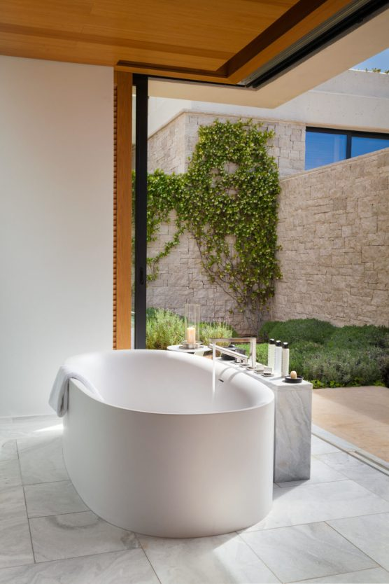 Amanzoe, Greece - Accommodation, Villas, Master bedroom, Bathroom