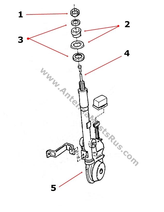 19871993 cadiallac allante antenna parts 10023825