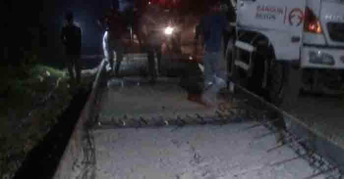 Proyek Betonisasi Jalan Tambak-Mandaya Diduga Tidak Sesuai Spesifikasi