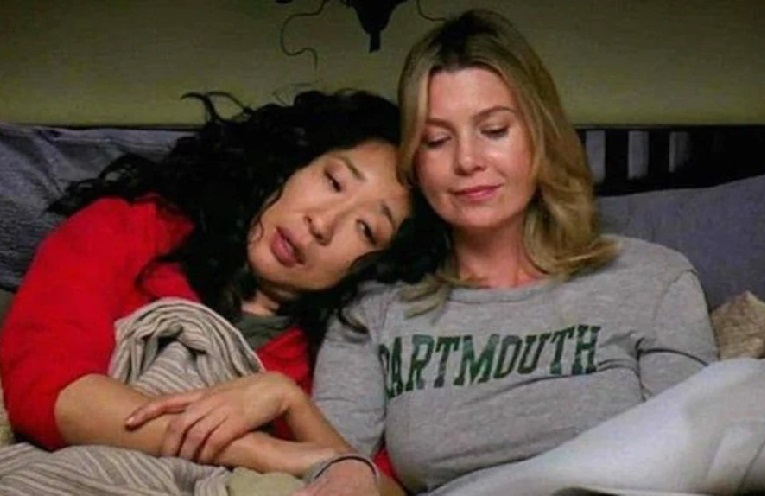 meredith grey y christina