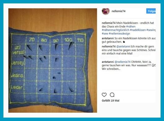 antetanni-freut-sich_Tauscherei_Nadelkissen-Naehmaschinennadeln_nellmies_2