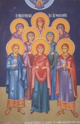 Η αγία οικογένεια της αγ. Φωτεινής της Σαμαρείτιδος