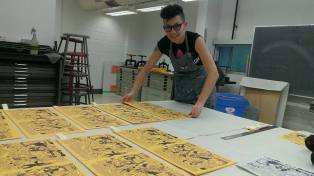 Queer Publishing Project cover printing marathon
