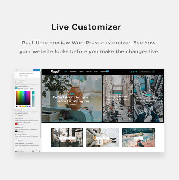 Tumli - A WordPress theme of personal masonry style - 1