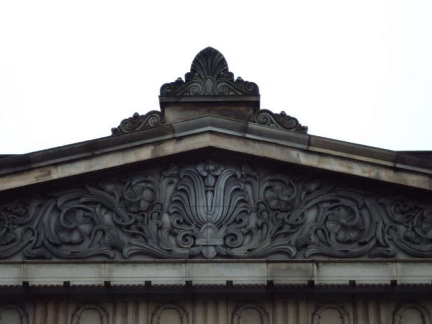 Anthemion on a building top
