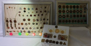 A collection of miners tally's / lamp checks including Lower Dyffryn, Abernant, Dowlais Cardiff, Cwm Cynon, Blaengwaur, Tower, Rhigos etc together with a large collection of pin badges. Sold for £1,200 at Anthemion Auctions