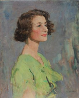 T C Dugdale - Head and shoulders portrait of a lady, Oil on canvas. Sold for £820 at Anthemion Auctions