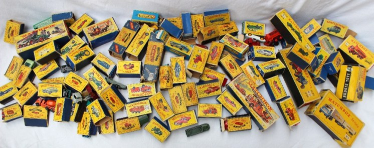 A large collection of Matchbox models. Sold for £800 at Anthemion Auctions