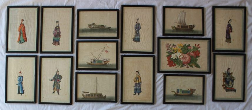 19th Century Chinese School A set of eight watercolour paintings on rice paper of figural studies. Sold for £820 at Anthemion Auctions