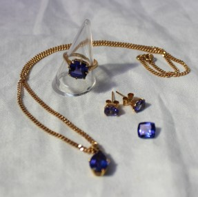 A suite of modern tanzanite jewellery. Sold for £900 at Anthemion Auctions