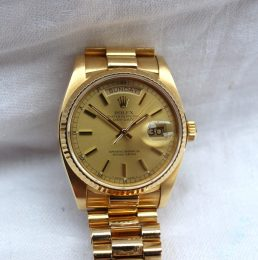 Rolex - A Gentleman's 18k Oyster Perpetual Day Date Superlative Chronometer wristwatch, ref: 18038. Sold for £5,200 at Anthemion Auctions