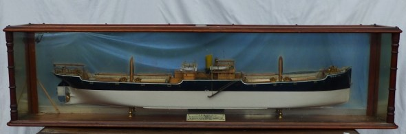 A mahogany cased half section model of the SS Mervyn, Built by W M Pickersgill & Sons Ltd. Sold for £2,700 at Anthemion Auctions