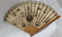 """""""A New Trafalgar fan"""" - a paper fan, dedicated to Lady Collingwood, with a central oval portrait of Lord Nelson. Sold at Anthemion Auctions for £750"""