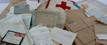 A collection of letters and correspondence relating to World War I relating to The American Red Cross Commission to Palestine, Jerusalem Hotel Menus dated 26-11-1918. Sold for £550 at Anthemion Auctions