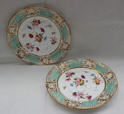 A pair of Nantgarw porcelain plates. Sold for £600 at Anthemion Auctions