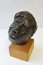 Peter William Nicholas, F.R.B.S. A.R.C.A. (1934-2015), Maquette for a portrait of Nye Bevan - Bronze initialled and dated '85. Sold for £600 at Anthemion Auctions