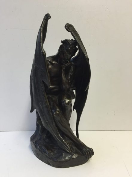 Jean-Jacques Feuchère - Satan, L'ange Dechu. Sold for £8,000 at Anthemion Auctions