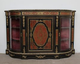 A Victorian ebonised gilt metal mounted and boulle work credenza. Sold for £1,650 at Anthemion Auctions