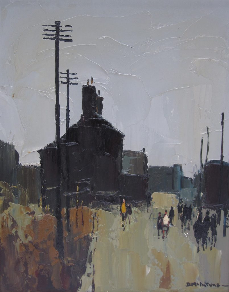 532 - Donald McIntyre Going to School Oil on board A209 Sold for £3000 at Anthemion Auctions