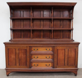 A late Victorian / Edwardian mahogany sideboard. Sold for £1,900 at Anthemion Auctions