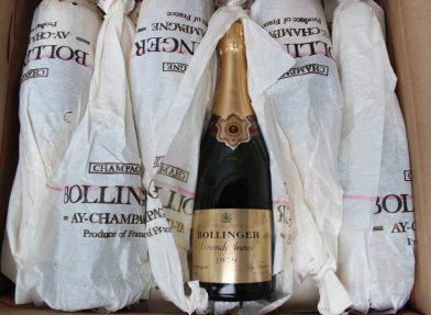 A case of Bollinger Champagne Grand Annee, 1979. Sold for £1,500 at Anthemion Auctions