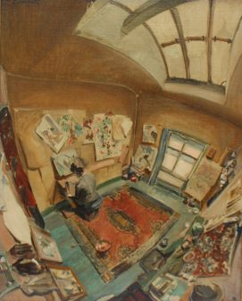 John Smith Willock - The Artist in her studio, Oil on Canvas. Sold for £880 at Anthemion Auctions