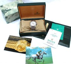 Rolex - A Gent's stainless steel automatic calendar centre seconds wristwatch, signed Rolex, Oyster Perpetual, Superlative Chronometer Officially Certified, model: Datejust, Ref: 16234. Sold for £1,450 at Anthemion Auctions
