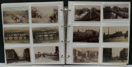A postcard album containing circa 200 postcards. Sold for £410 at Anthemion Auctions