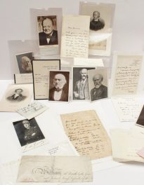 A typed letter from 4 Whitehall Court S.W. Sold for £400 at Anthemion Auctions