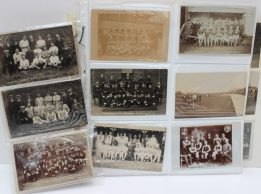 A collection of circa 40 sporting postcards. Sold for £320 at Anthemion Auctions