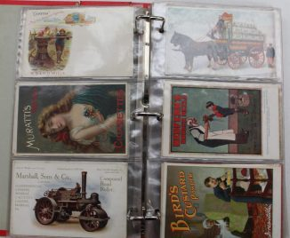 A postcard album containing circa 115 advertising postcards. Sold for £1,150 at Anthemion Auctions