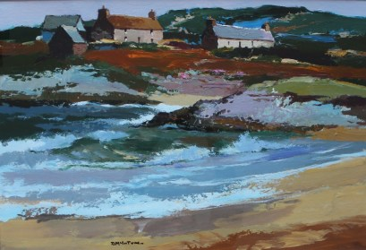 Donald McIntyre - Incoming tide, Oil on paper. Sold for £5300 at Anthemion Auctions