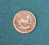 A gold one Rand coin dated 1969 Sold for £70 at Anthemion Auctions