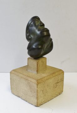 Peter William Nicholas, F.R.B.S. A.R.C.A. (1934-2015) - A head and and shoulders bust. Bronze, On a stepped stone base, Unmarked 11cm high. Sold for £470 at Anthemion Auctions