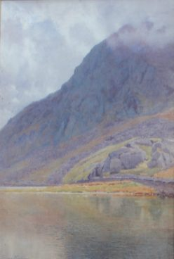 Lot 448 - Estimates: £200 - 300. George Cockram Tryfan on Ogwen Watercolour Signed and label verso 74 x 49cm