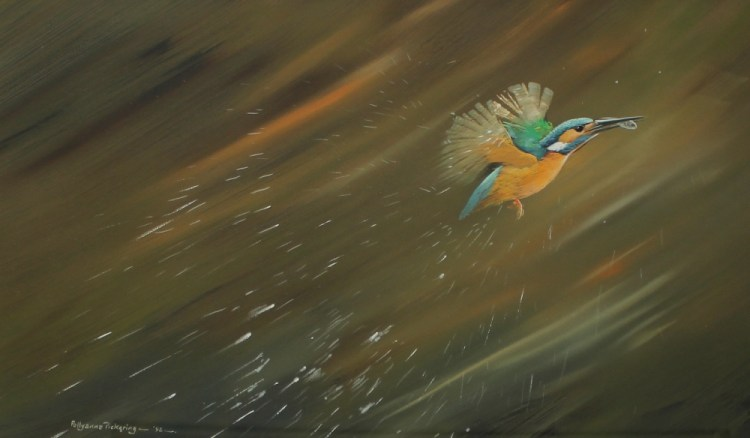 Pollyanna Pickering A Kingfisher with a fish in its beak – Lot 473