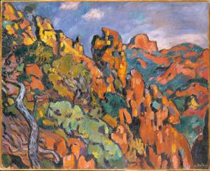 Les Rochers rouges à Anthéor 1902-1903. Musée Paul Valery - Sète