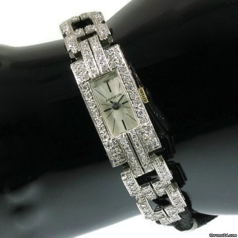 Montre platine diamants Antheor
