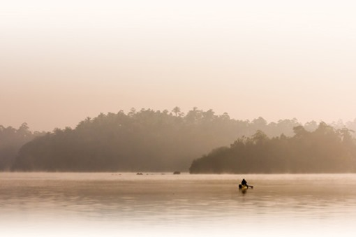 Fisherman in first Morning Light