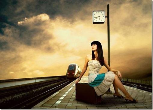 woman-railway
