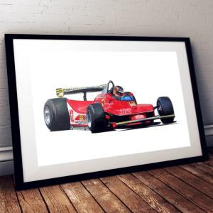 Gilles Villeneuve - Ferrari 312 T4 - 1979